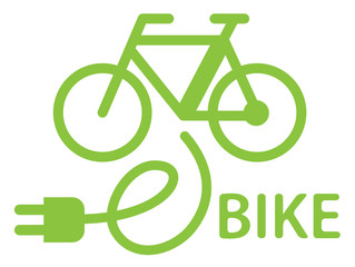 e-bike vector logo design