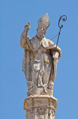 Spire of St. Oronzo. Ostuni. Puglia. Italy.