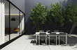 Outdoor minimal design home, summer lounge dining yard