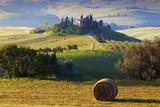 Fototapety Paesaggio toscano. Podere, campo di grano