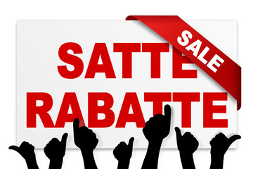 Sale - satte Rabatte