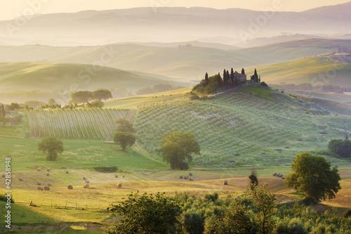 panorama toscano, italia