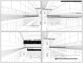 Modern Hall Vector 08