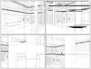 Modern Hall Vector 09