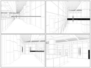 Modern Hall Vector 10