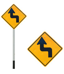 Curve traffic sign
