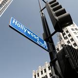 Hollywood boulevard sign, California, USA poster
