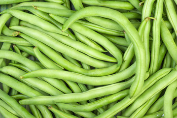 Abstract background: green wax beans