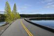 strada sul Lago Yellowstone