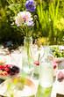 Leinwanddruck Bild - Picnic table outdoors
