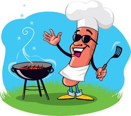 Cool Hotdog with BBQ Grill