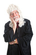 Judge in Wig - Bored