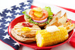 Patriotic American Turkey Burger - 42866966