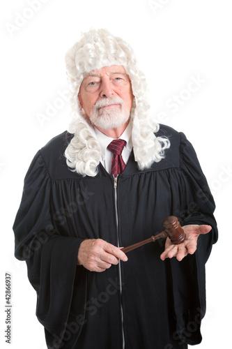 Judge Wearing Wig