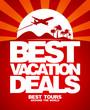 Best vacation deals advertising design template.