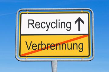 Verbrennung und Recycling
