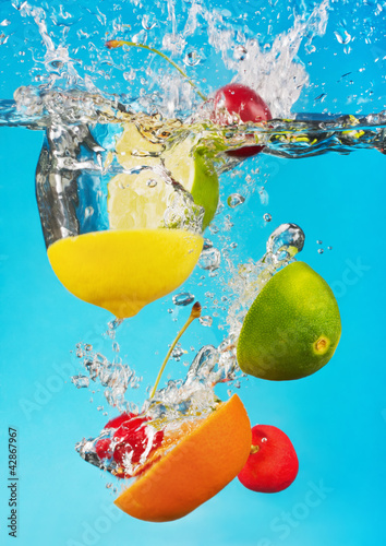 fruits fall deeply under water