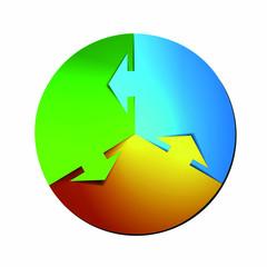 round vector design concept