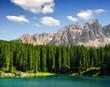 Carezza lake, Val di fassa, Dolomites, Alps, Italy