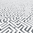 Endless large maze 3D render.