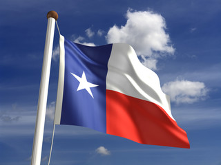 Texas flag (with clipping path)