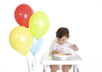 Babies 1st Birthday cake