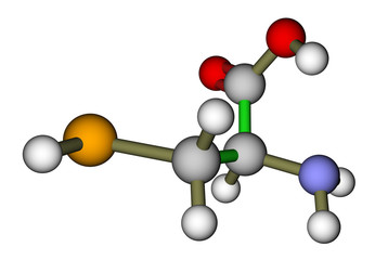 Amino acid selenocysteine 3D molecular structure