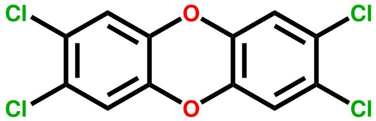 Poison dioxin (2,3,7,8-Tetrachlorodibenzo-p-dioxin)