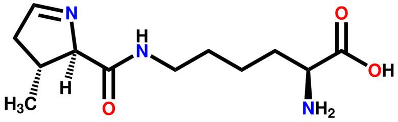 Amino acid pyrrolysine structural formula