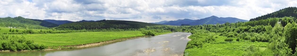 Panorama of the Carpathian landscape