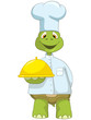 Funny Turtle. Chef.
