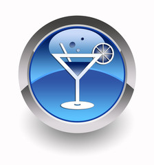 """Cocktail"" glossy icon"
