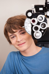 Male Patient Having Eyes Test