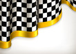 Checkered invitation background