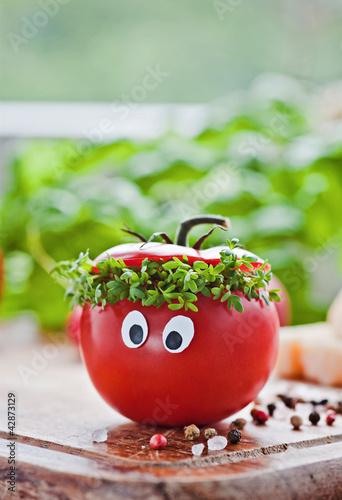 tomaten-kresse mann
