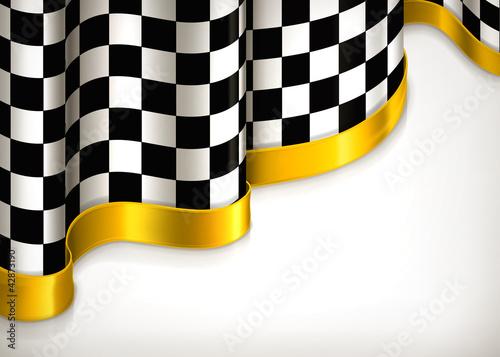 Checkered invitation background