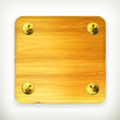 Wooden board with screws