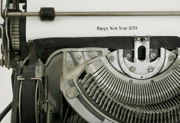 Happy New Year 2013 Typed on Vintage Electric Typewriter