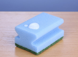 Sponge with dishwashing liquid