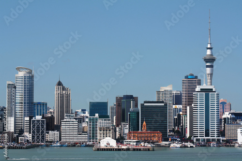 Auckland City and Harbour with Skytower - 42874545