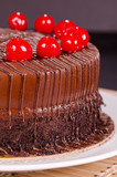 Chocolate Fudge Cake with Cherries