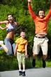 Cheerful jump