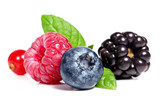 Fototapety Berry fruits on a white background