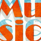 Music. Retro grunge typographic poster. poster