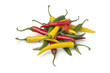 Red, yellow and green chili peppers