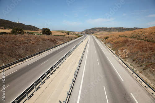 Highway Autovia A48 in Andalusia, Spain