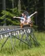 Spass auf der Sommerrodelbahn