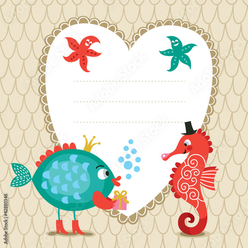 Cute greeting children card