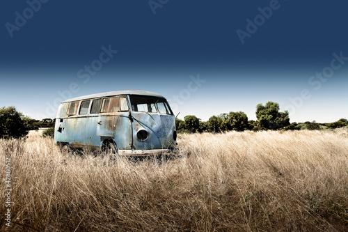 Leinwandbild Motiv Abandoned Camper