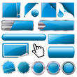 Blue Collection Vector-Button-Set